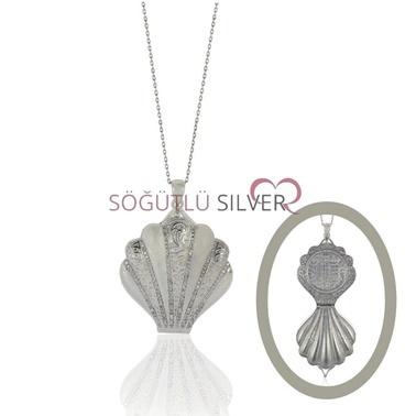 Midye Kapaklı Kolye-Söğütlü Silver